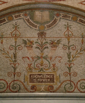 """Knowledge is Power"" Mosaic at the Library of Congress (Washington, DC)"
