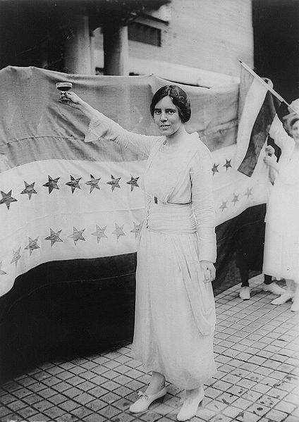 A photograph of Alice Paul (c1920 by Harris & Ewing)
